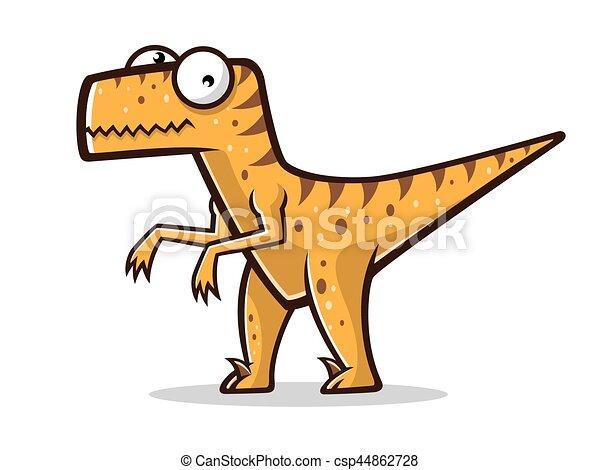 cartoon funny raptor cartoon velociraptor was standing with two legs rh canstockphoto com raptor clip art free Raptor Clip Art Black and White