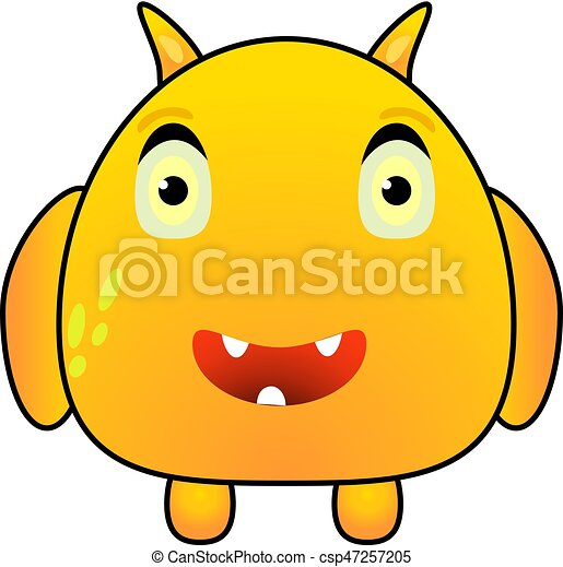 cartoon funny yellow monster cartoon funny cute yellow vector rh canstockphoto com monster victory motorcycles monster victory