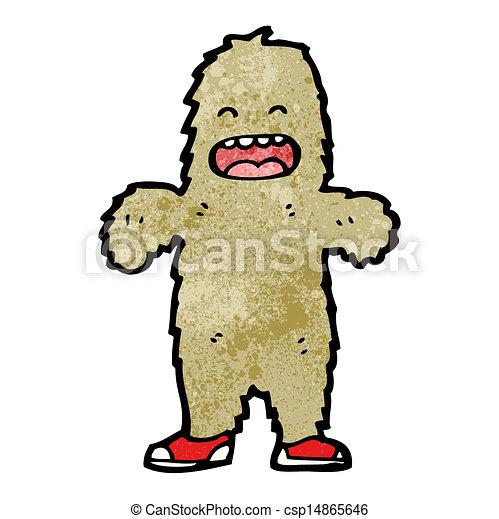 cartoon furry bigfoot monster - csp14865646