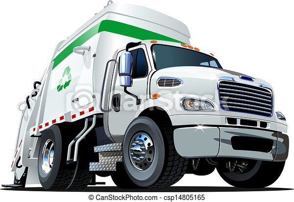 Cartoon Garbage Truck - csp14805165