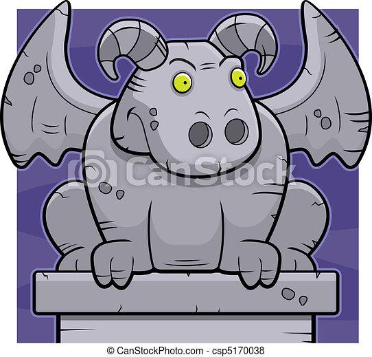 Cartoon Gargoyle - csp5170038