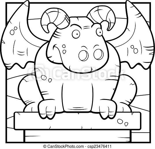 Cartoon Gargoyle - csp23476411