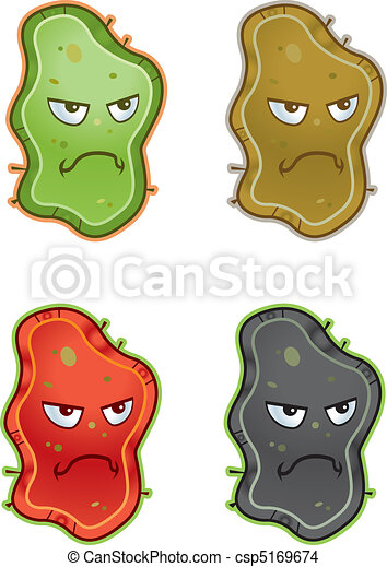 a group of cartoon germs with angry expressions eps vector search rh canstockphoto com