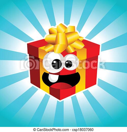 Cartoon Gift Box - csp18037060