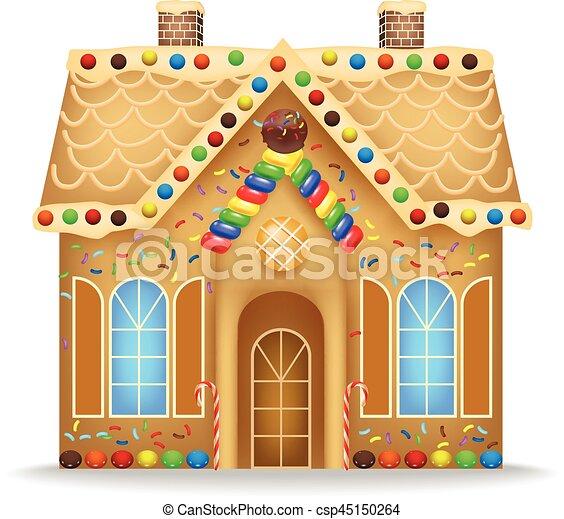 vector illustration of cartoon gingerbread house clip art vector rh canstockphoto com gingerbread man house scream cartoon gingerbread house cartoon