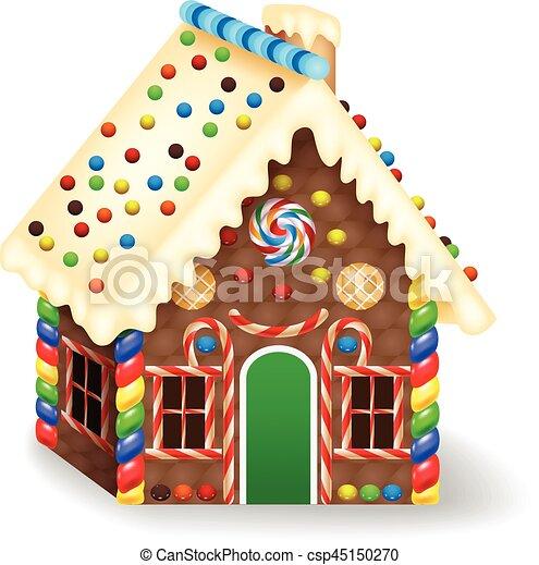 Christmas Gingerbread House Cartoon.Cartoon Gingerbread House