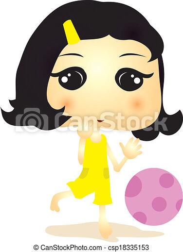 cartoon girl - csp18335153