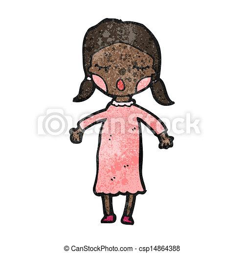 cartoon girl - csp14864388