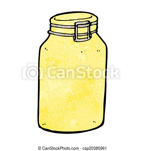 cartoon glass jar - csp20385961