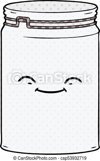 cartoon glass jar - csp53932719