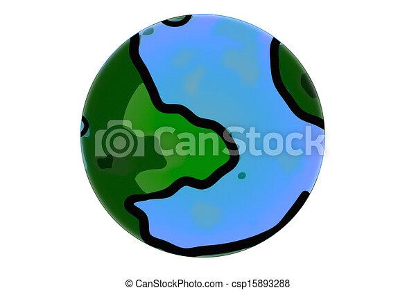 Cartoon Globe Simple Abstract Earth Globe In Cartoon Style