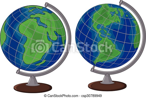 Vector illustration of cartoon globe two side eps vector search cartoon globe two side vector sciox Images