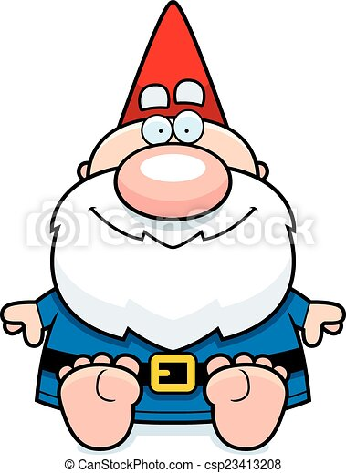 cartoon gnome sitting a cartoon illustration of a gnome vector rh canstockphoto com garden gnome clipart free gnome clip art free