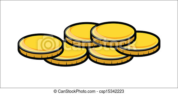 cartoon gold coins clipart vector drawing art of cartoon rh canstockphoto com chinese gold coin clipart chinese gold coin clipart