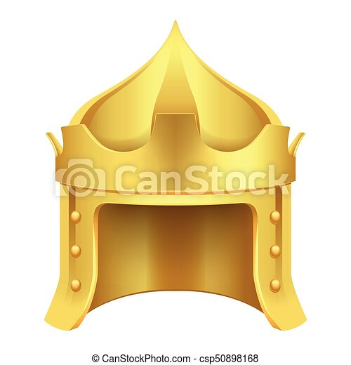 Cartoon Gold King Crown Isolated Illustration Cartoon Gold King