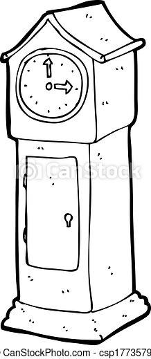 grandfather clock drawing. cartoon grandfather clock drawing p