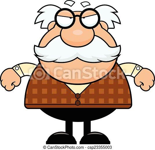 cartoon grandpa grumpy cartoon illustration of a grandpa vector rh canstockphoto com grandma clipart clipart grandpa
