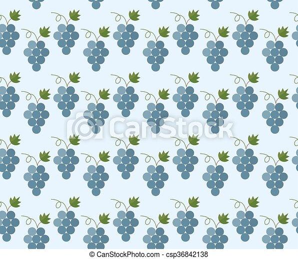 Cartoon grapes pattern - csp36842138