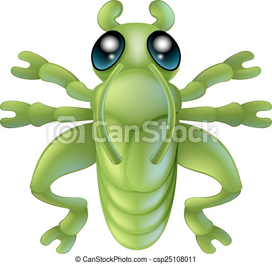Cartoon grasshopper insect bug - csp25108011