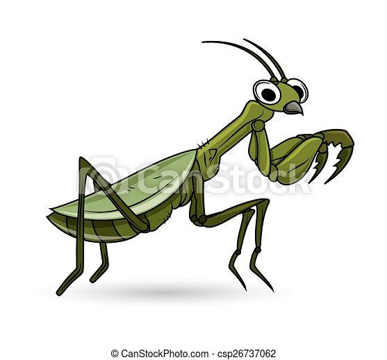 Cartoon Grasshopper Vector - csp26737062