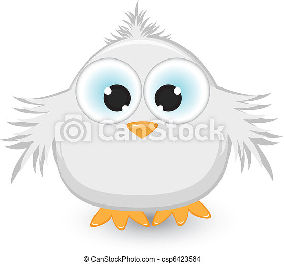 Cartoon gray sparrow - csp6423584