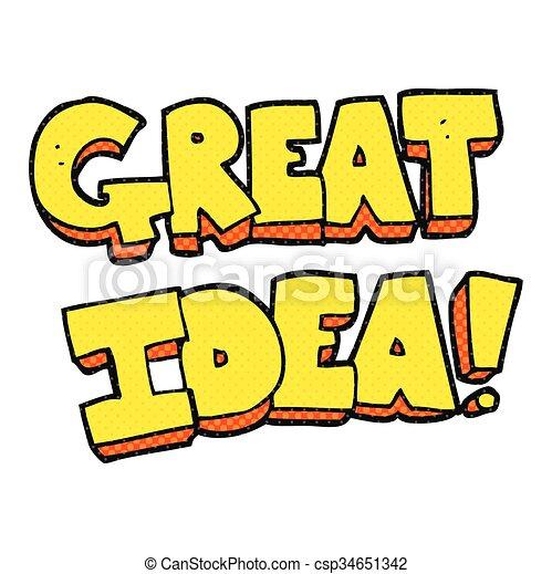 cartoon GREAT IDEA symbol - csp34651342
