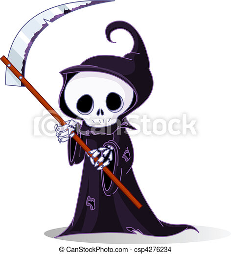 cartoon grim reaper cute cartoon grim reaper with scythe eps rh canstockphoto com grim reaper clipart black and white halloween grim reaper clipart