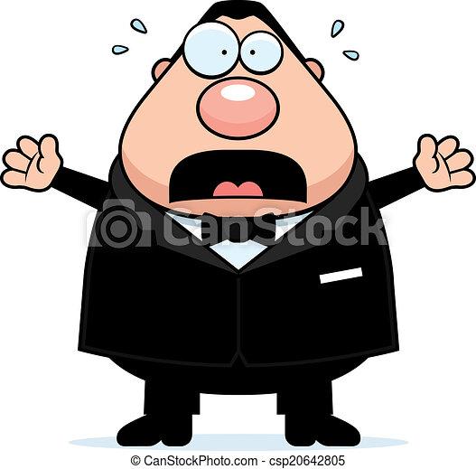 Cartoon Groom Scared - csp20642805
