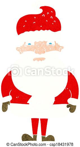 cartoon grumpy santa claus - csp18431978