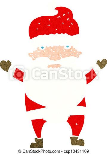cartoon grumpy santa - csp18431109