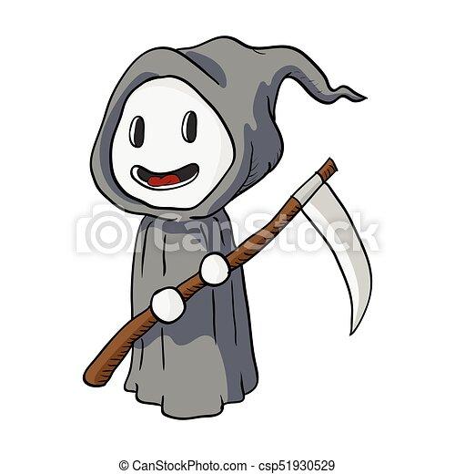 Cartoon Halloween Death Monster Vector Illustration Cartoon Halloween Death Monster Grim Reaper Vector Illustration Canstock