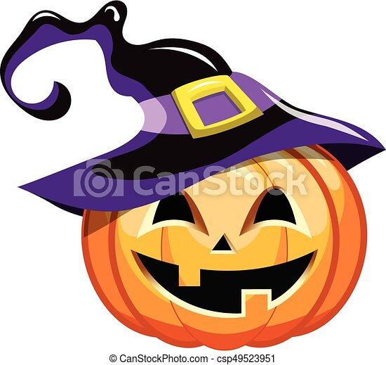 cartoon halloween pumpkin witch hat cartoon halloween