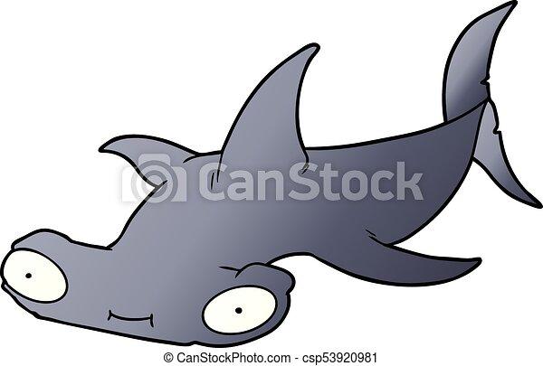 cartoon hammerhead shark vector search clip art illustration rh canstockphoto com hammerhead shark vector clipart hammerhead shark clipart black and white