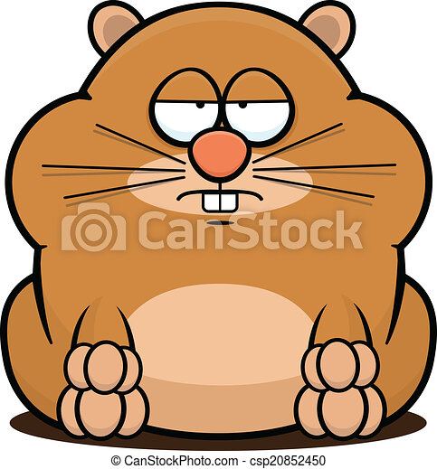 cartoon hamster tired cartoon illustration of a cute hamster with a
