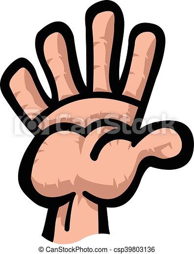 cartoon hand high five vector illustration vectors search clip art rh canstockphoto com high five hand clipart high five clipart images