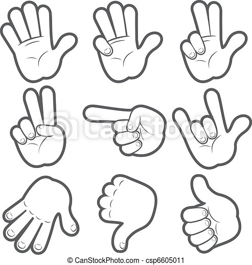 Cartoon Hands #1 - csp6605011