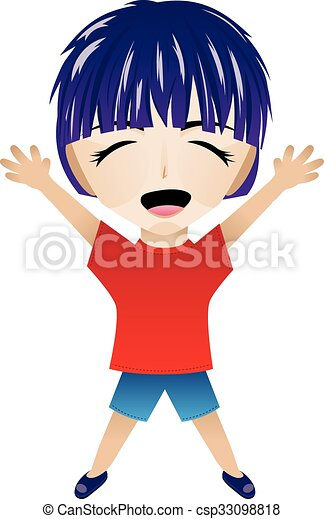 Cartoon Happy Boy - csp33098818