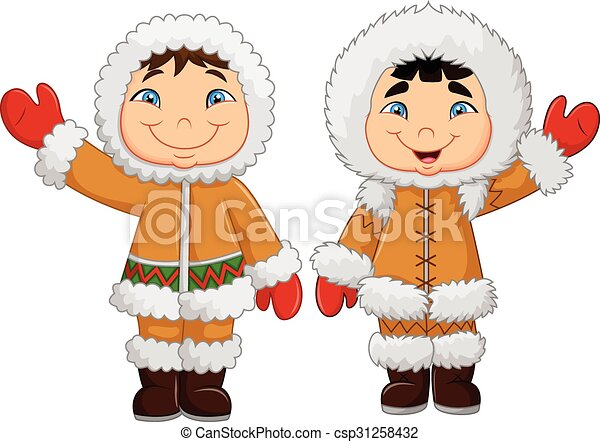 Winter clothes clipart