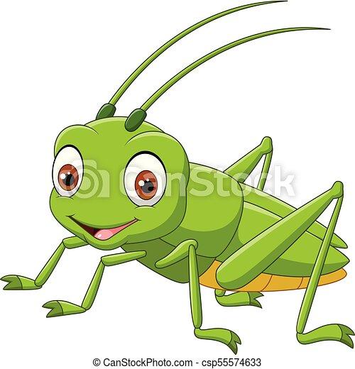 Cartoon happy grasshopper - csp55574633