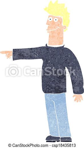 cartoon happy pointing man - csp18435813