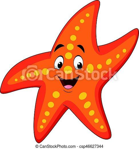 vector illustration of cartoon happy starfish eps vector search rh canstockphoto com starfish vector image starfish vector free download