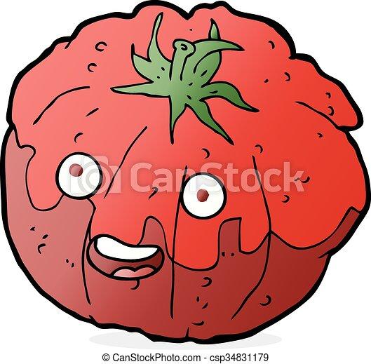 cartoon happy tomato rh canstockphoto com cartoon tomato ketchup cartoon tomato with eyes