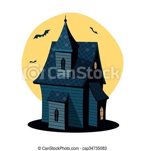 cartoon haunted house cartoon illustration of haunted house rh canstockphoto com haunted house victoria bc haunted house vector free