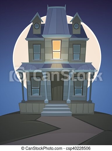 Cartoon haunted house a haunted house on the hill with - Cartoon haunted house pics ...