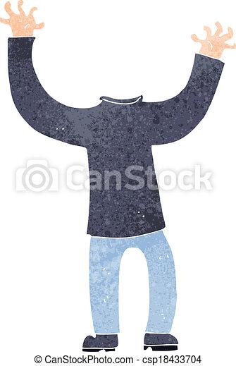 cartoon headless body - csp18433704