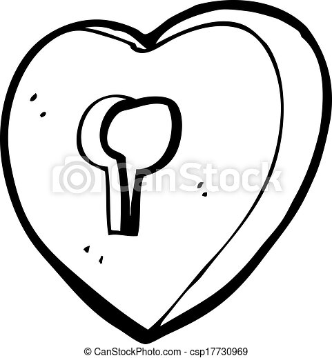 cartoon heart with keyhole clip art vector search drawings and rh canstockphoto com Key Clip Art keyhole clipart free