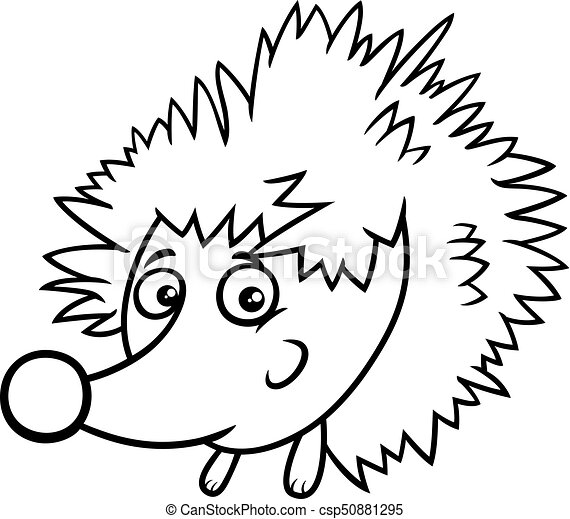 cartoon hedgehog character coloring book black and white eps rh canstockphoto ie