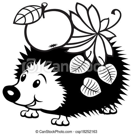 cartoon hedgehog cartoon hedgehog black and white picture clip rh canstockphoto com hedgehog clipart cute hedgehog clipart png