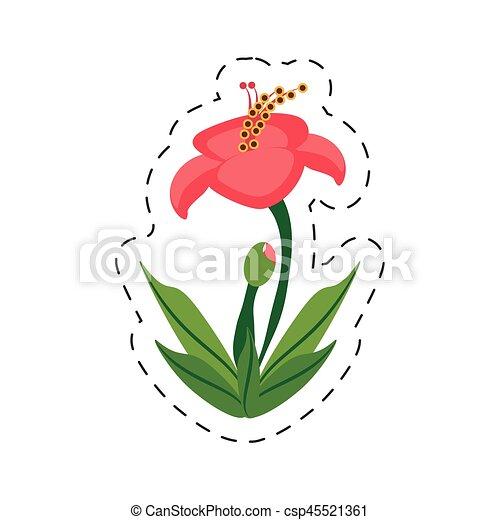 Cartoon Hibiscus Flower Image Vector Illustration Eps 10