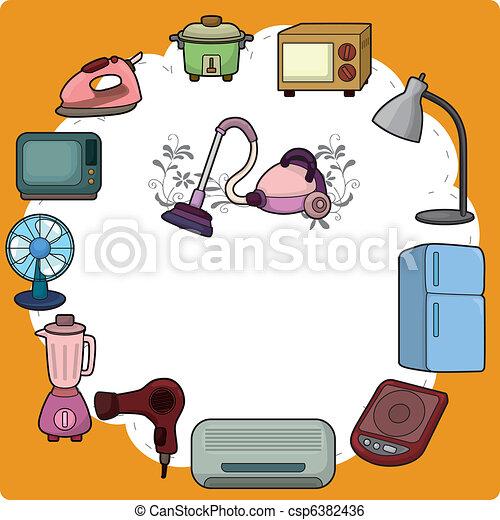 Cartoon Home Appliance Card